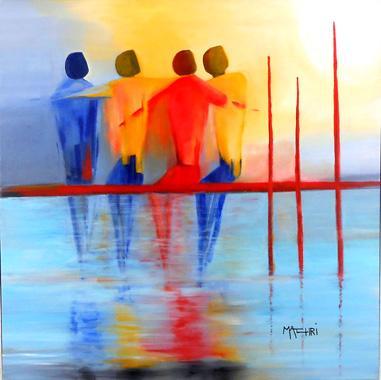 Titre: Amitié solaire, Artiste: Machri, Marie-Christine