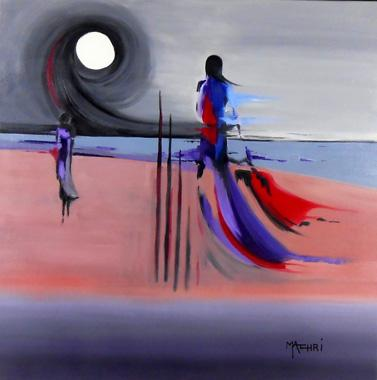 Titre: La mer et l'enfant, Artiste: Machri, Marie-Christine
