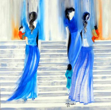 Titre: Lâ haut, Artiste: Machri, Marie-Christine