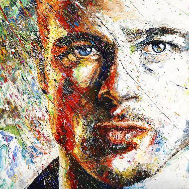 Titel: Brad Pitt, Kunstenaar: Maes, Gilles
