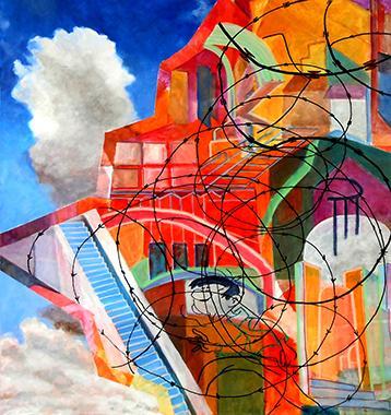 Titel: Stairway to freedom, Kunstenaar: Pierrard, Micky
