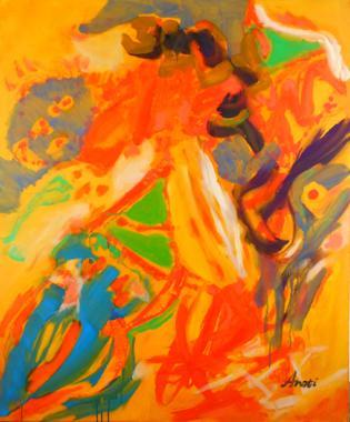 Titel: Yellow paradise, Kunstenaar: Arati , Nicolas