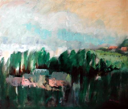 Titel: Ferme à l'étang, Kunstenaar: Madeleine Remy