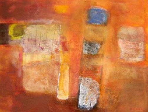 Titel: Couleurs chaudes, Kunstenaar: Nicole Doneux