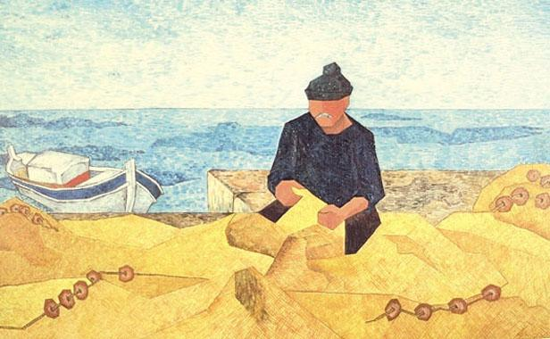 Titre: Les filets sur le port