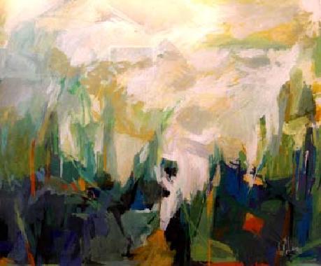 Titel: Paysage, Kunstenaar: René Collienne