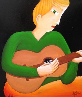 Titel: Un air de guitare, Kunstenaar: Astrid de Lastic-Brucker