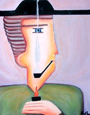 Titel: Le fumeur, Kunstenaar: Astrid de Lastic-Brucker