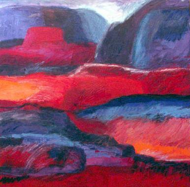 Titel: Desert Sunset 3, Kunstenaar: Johnson, Sandee Shaffer