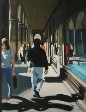 Titre: Promeneurs à Paris, Artiste: Van Soens, Eric