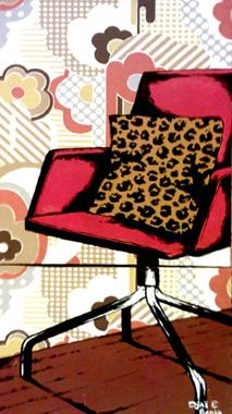Titre: Red chair, Artiste: Djaï et Benja,