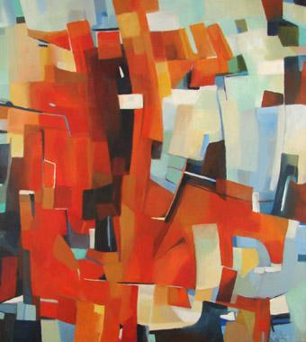 Titel: Composition 5, Kunstenaar: Collienne, Ren�