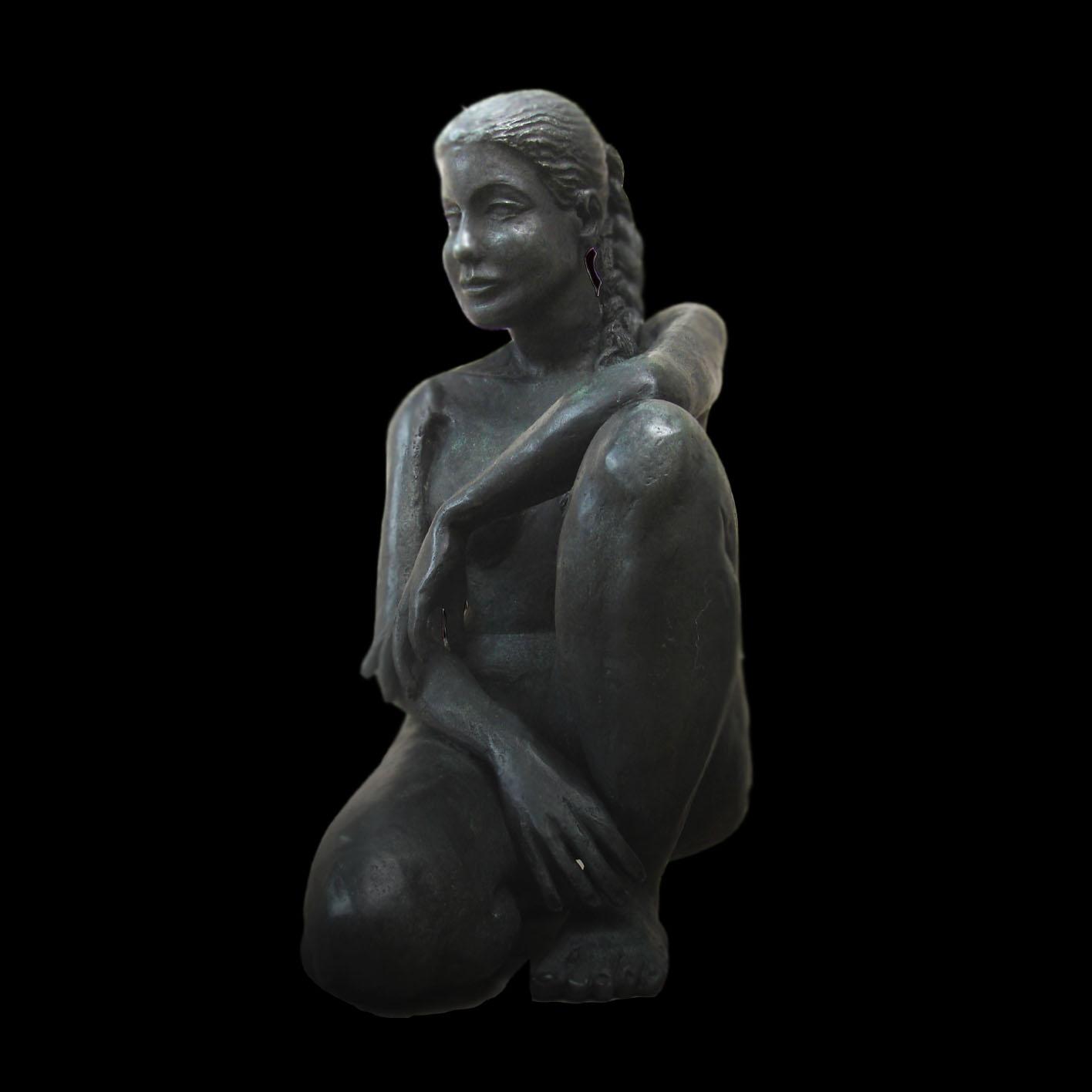 Titel: Stéphanie sur un genou, Kunstenaar: Alfred Blondel