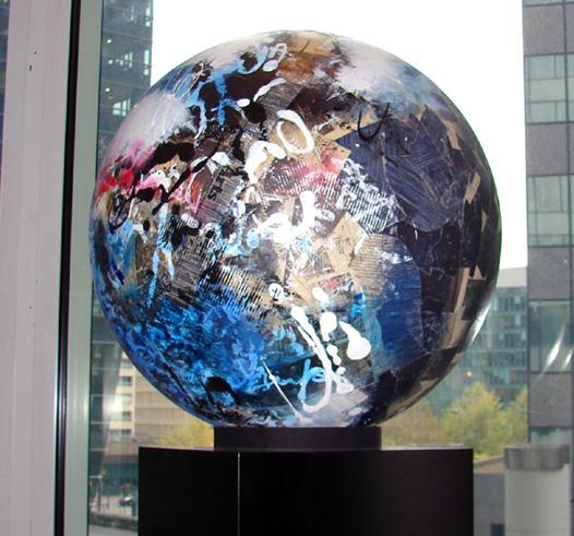 Titel: Sphere Big Blue, Kunstenaar: Bauwin