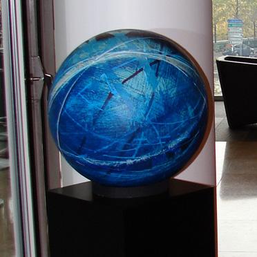 Titel: Sphere Small Blue, Kunstenaar: Bauwin